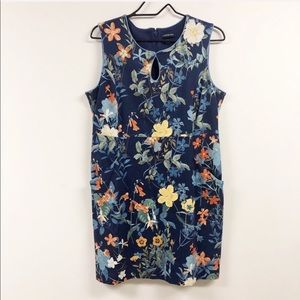Land's End Sleeveless Floral Pocketed Dress 4P